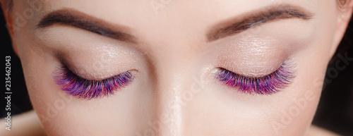 Fotografie, Obraz  Eyelash extension procedure.