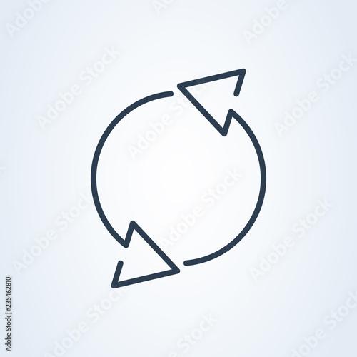 Fotografie, Obraz Rotation arrows icon vector. round recover symbol icon