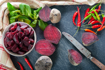delicious homemade raw beetroot salad