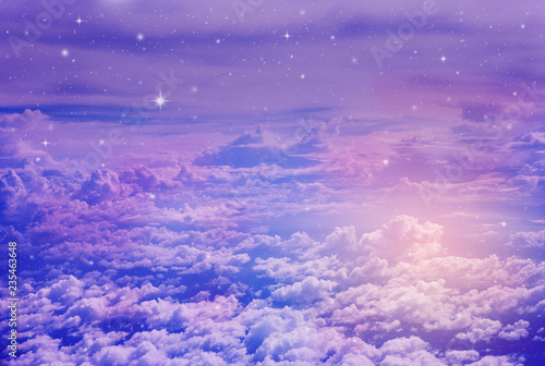 Poster Universe colorful night sky