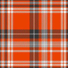 Plaid Pattern In Red, Black, Gray And White