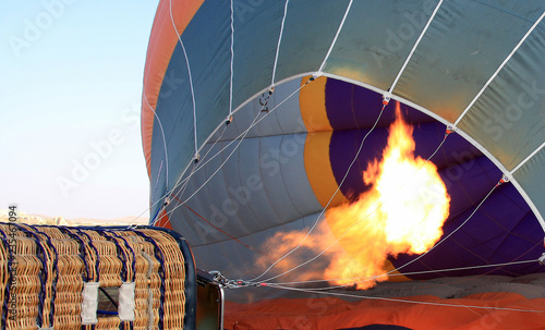 Hot air balloon filling