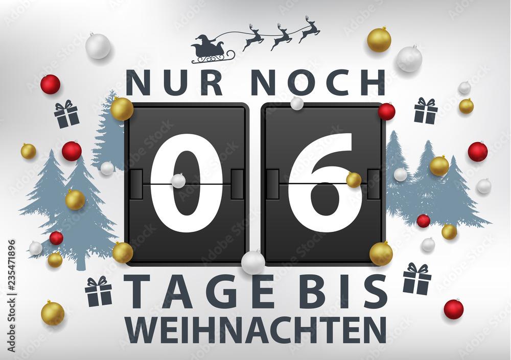 Tage Bis Weihnachten.Noch X Tage Bis Weihnachten Foto Poster Wandbilder Bei Europosters