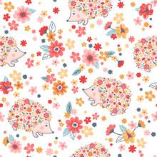 Seamless Childish Floral Patte...