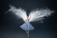 Portrait Of Young Woman With Ethereal Wings