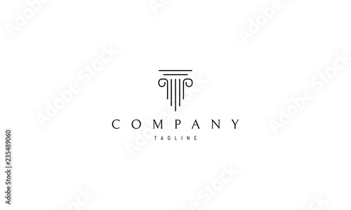 Greek column vector logo image Wallpaper Mural