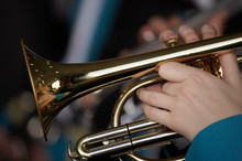 TRUMPET PLAYER IN BRASS BAND