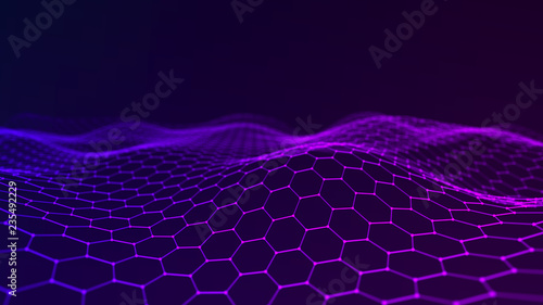 Music abstract background. Network connection. 3D rendering.