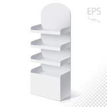White Round POS POI Cardboard ...