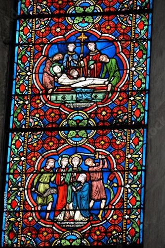 Poster Imagination Vitraux de la cathédrale de Vienne