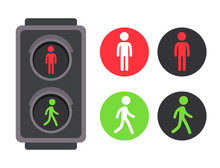 Pedestrian Traffic Light Icons