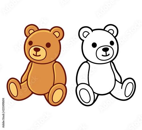 Fototapeta Teddy bear drawing