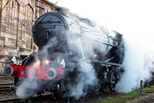 An 8F Class Locomotive Steamin...