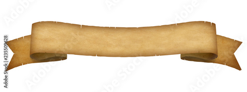 Empty paper scroll ribbon banner