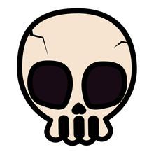 Happy Halloween Skull Icon