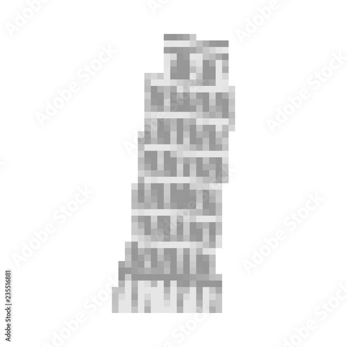 Leaning Tower of Pisa pixel art  Italy landmark 8 bit