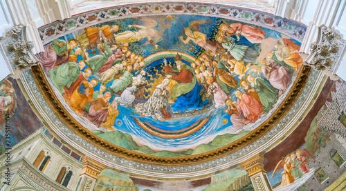Frescoed apse by Filippo Lippi, in the Duomo of Spoleto Canvas Print