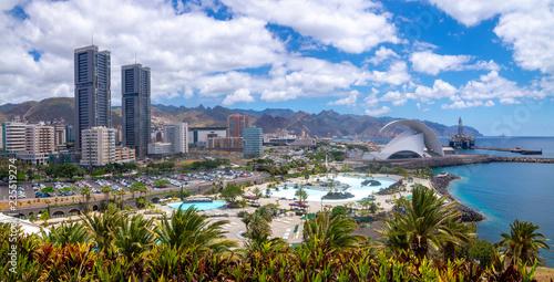 Panorama of the capital of Tenerife, Santa Cruz
