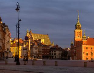 FototapetaRoyal Castle in Warsaw, Poland, at sunrise