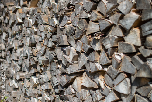 warehouse of old firewood