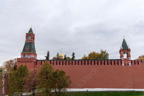 Wall Murals Moscow Red Square With Senate Palace, Nikolskaya Tower And Kremlin Wall