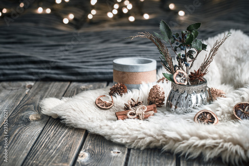 Foto op Canvas Kerstmis Home decor in the interior of the room