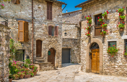 A picturesque sight in Assisi Canvas Print