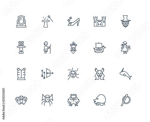 Spear, Chimera, Dwarf, Cthulhu, Cerberus, Leprechaun, Viking shi Tablou Canvas