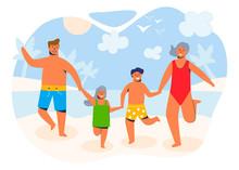 Happy Family On Summer Vacatio...