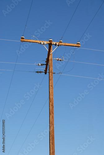 Fotografie, Obraz  Telephone pole