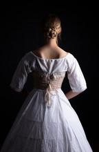Victorian Woman In Underwear