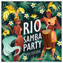 Brazilian Samba Dancer. Carniv...