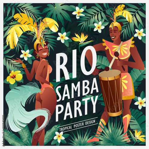 Foto Brazilian samba dancer