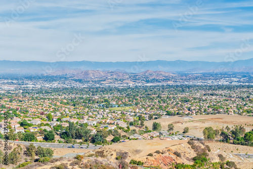 Sunny fall day in California inland empire cities