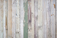 Rustic Weathered Wooden Fence ...