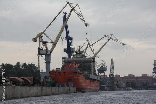Fotografie, Obraz  cranes in port