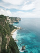 Aerial panoramic view of a beautiful Thousand Island Viewpoint Nusa Penida, Indonesia, Bali.