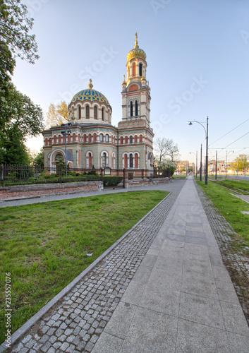 Obraz Łódź - Cerkiew prawosławna pod wezwaniem Świętego Aleksandra Newskiego - Polska - fototapety do salonu