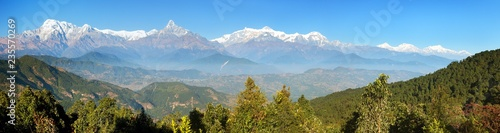 Canvas Prints Alps MountAnnapurna range, Nepal Himalayas mountains