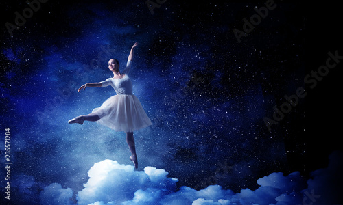 Fotografie, Obraz  Ballet dancer in jump