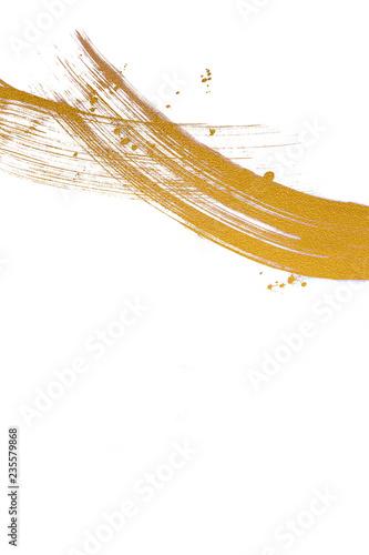 Fotografía  金色の線 白背景