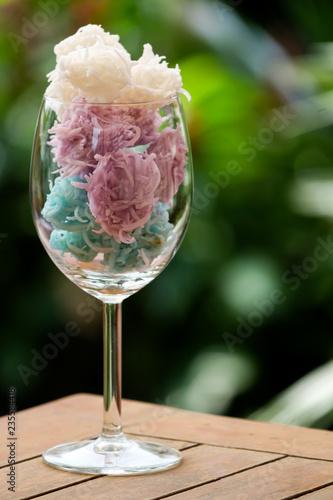 Fotografia  Thai tradition dessert made from coconut and sugar.