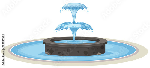 Photo Isolated fountain on white background