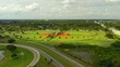 Drone footage of Tradewinds Park Broward County Florida