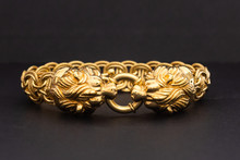 Gold Bracelet With Lion Clasp