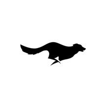 Running Jumping Dog Logo Vector Silhouette K9 Training