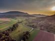 Sonnenuntergang - Luftaufnahme