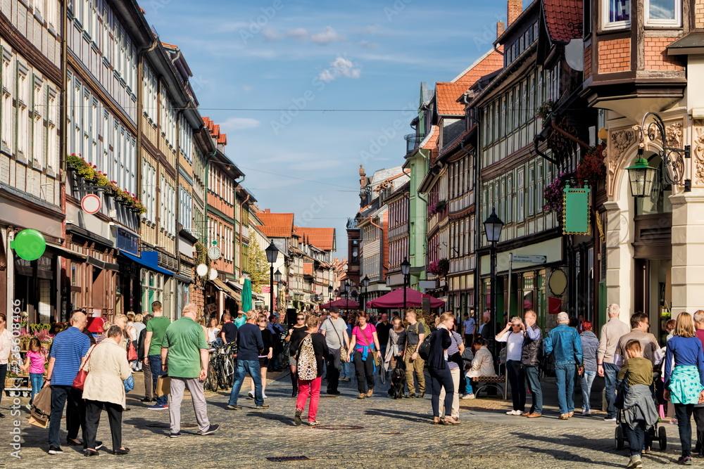 Fototapeta Wernigerode, Einkaufsstraße