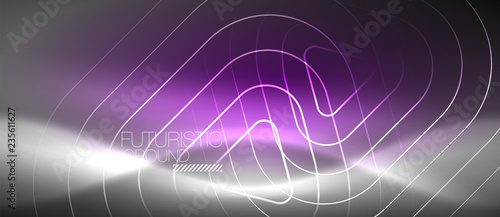 Photo  Vector neon color abstract background