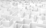 Fototapeta Scene - Labyrinth maze 3D